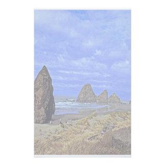 Stenig strand brevpapper
