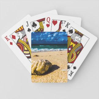 Stenig tropisk strand spelkort