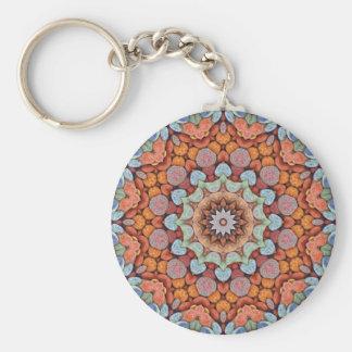 Steniga vägar färgrika Keychains Rund Nyckelring