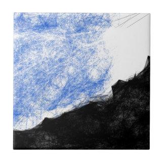 stenigt berg och dröm kakelplatta