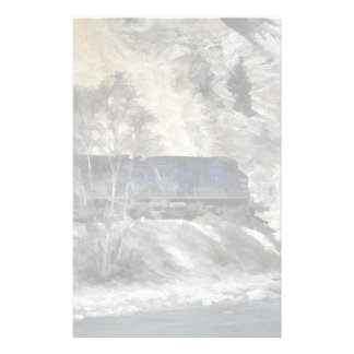 Stenigt bergskogsvaktaretåg brevpapper