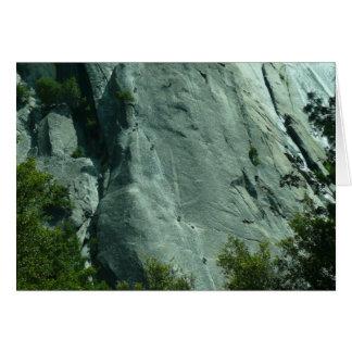 Stenklättrare på El Capitan Hälsningskort