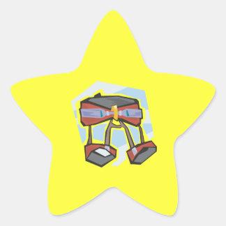 Stenklättringsele Stjärnformat Klistermärke