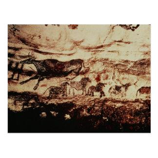 Stenmålning av en hoppa ko vykort