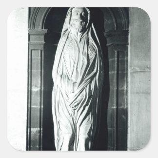 Stenskulptur av John Donne i hans döljer Fyrkantigt Klistermärke