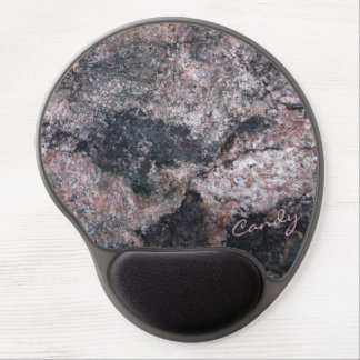 Stenstruktur som är pinkish med godisen gel musmatta
