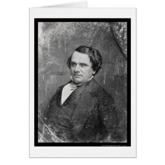 Stephen Arnold Douglas Daguerreotype 1844 Hälsningskort