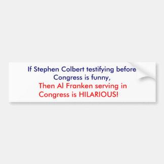 Stephen Colbert vs Al Franken Bildekal