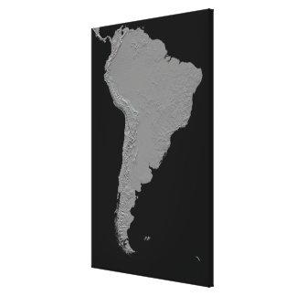 Stereoscopic beskåda av South America Canvastryck
