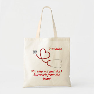 Stetoskophjärta hänger lös budget tygkasse