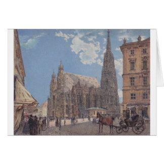 Stets Stephen domkyrka i Wien av Rudolf Hälsningskort