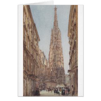 Stets Stephen domkyrka i Wien vid Rudolf vo Hälsningskort