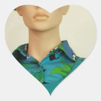 Stewardess Hjärtformat Klistermärke