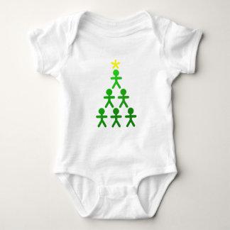 Stick figurer julaftonträd t-shirts