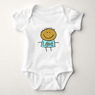 Stick figurkärlekbarnkläder t-shirt