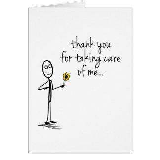 Stick figurtacksjuksköterska Notecard OBS Kort