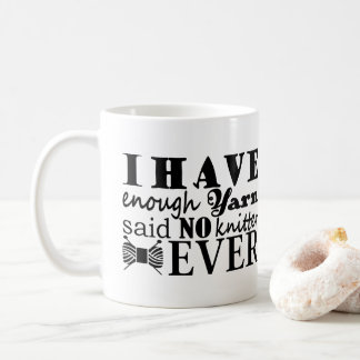 Sticka •, Inte nog garn tillverkar 2017 Kaffemugg