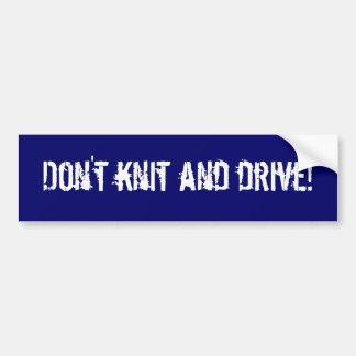 Sticka inte och kör! bildekal