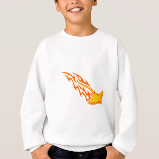 Sticka strålen flammar tröja