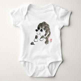 Sticker sniglar? Sumi-e kattunge och snigel Tshirts