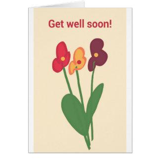 Stickman get well card OBS kort