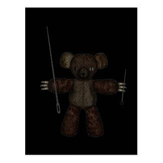 Stift & björn för nålar 3D Vykort