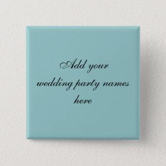 Stift för namn för blåttPersnalized bröllopsfest Standard Kanpp Fyrkantig 5.1 Cm