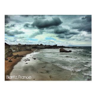 """""""Stiger ned skymningen på Biarritz """", Vykort"""