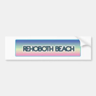 Stil 1 för regnbåge för Rehoboth strand pastellfär Bildekal