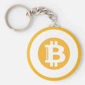Stil 2 för Bitcoin logotypklassiker Rund Nyckelring