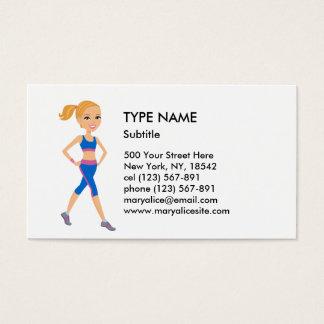 Stil 2 för konditionflickatecknad visitkort