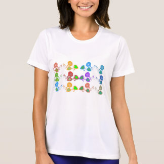Stil: DamkapacitetsMikro-Fiber T-tröja T Shirts