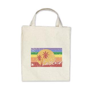 Stil för 80-tal för gay prideregnbågen hänger lös  kassar