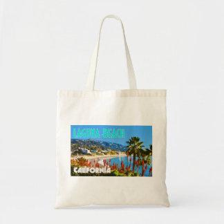 Stil för affisch för Laguna strandvintage resor Tygkasse