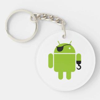 Stil för Androidrobotpirat Dubbelsidigt Rund Akryl Nyckelring