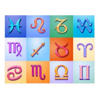 Stil för Aqua för 12 Zodiactecken Vykort