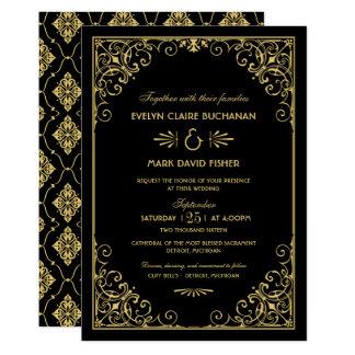 Stil för art déco för bröllopinbjudningar | 12,7 x 17,8 cm inbjudningskort