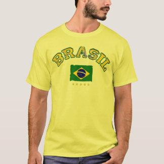 Stil för Brasilien flaggafotboll Tee