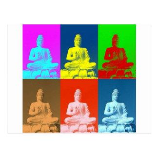 Stil för Buddha popkonst Vykort