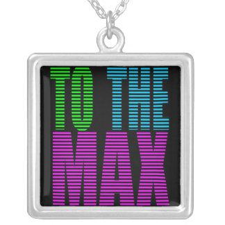 Stil för Corey tiger80-tal TILL maxet Halsband Med Fyrkantigt Hängsmycke