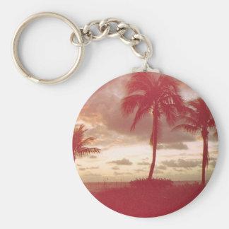 Stil för Florida solnedgång50-tal Rund Nyckelring