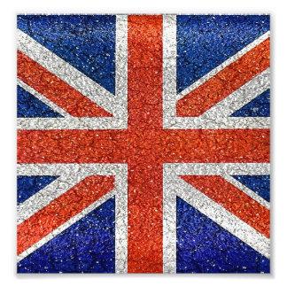 Stil för Grunge för England flagga livlig Fototryck