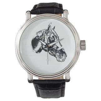 stil för hästhuvudfrimärke armbandsur