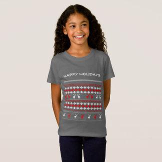 Stil för jumper för Retro festlig julhelgdag ful Tee Shirt