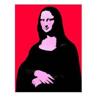 Stil för Mona Lisa popkonst Vykort