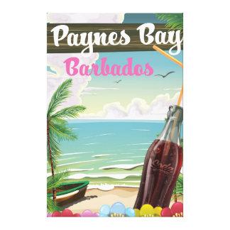 Stil för Paynes fjärdBarbados vintage reser Canvastryck