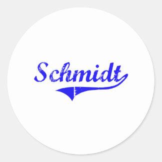 Stil för Schmidt efternamnklassiker Runt Klistermärke
