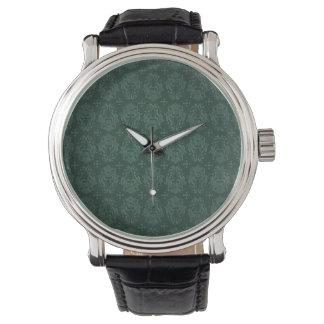 Stil för vintage för grön Victorian för elegant Armbandsur
