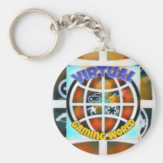 Stil: Grundläggande knäppas Keychain Rund Nyckelring