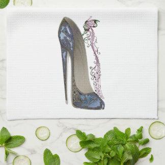 Stiletten skor konstkökshanddukar kökshandduk